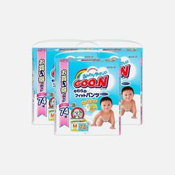 【包邮 3包装 106.67元/包】Goo.N大王 M74片(7-12kg) 拉拉裤 1.44元/片