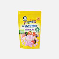 【包邮包税】美国Gerber嘉宝混合水果味酸奶溶溶豆28g宝宝辅食【7袋起发】保税区直发