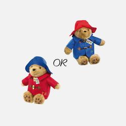【包邮包税】英国直邮 Paddington Bear帕丁顿抱抱熊 30cm (蓝帽子/红衣服或红帽子/蓝衣服)随机发货