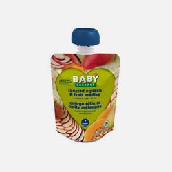 美国直邮Baby Gourmet有机婴儿混合果泥 南瓜 混合水果  128ml 有效期至2017年7月