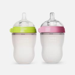 香港直邮【包税包邮】Comotomo可么多么宽口径全硅胶奶瓶绿色250ml+粉色250ml