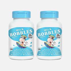 2瓶包邮包税澳洲Milk Bobbles 学生高钙奶片 香草味 180粒*2