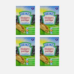 英国直邮【包邮包税】HEINZ亨氏 婴幼儿营养米粉 蓝莓味 120g (7个月以上)4盒装
